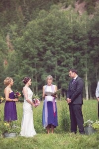 a photo of a wedding ceremony in the mountains